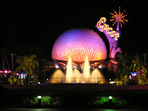 Photo: Epcot at night