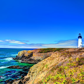 Yaquina Head Lighthouse by John Broughton - Buildings & Architecture Public & Historical ( old lighthouse, lighthouse oregon coast, lighthouse, oregon coast, yaquina head lightouse )