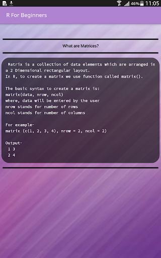 R For Beginners 2.9 screenshots 9