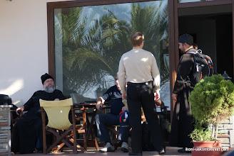 Photo: Athoksen munkit olivat asioimassa Ouranopoliksessa