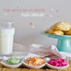 Scones with Colorful Spreads