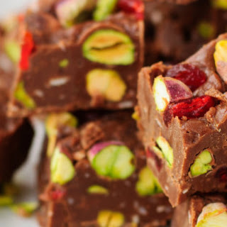 Cherry Pistachio Coconut Christmas Fudge Recipe