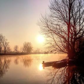 Misty sunrise  by Oliver Švob - Instagram & Mobile Android ( snapshot by malioli, , Lighting, moods, mood lighting )