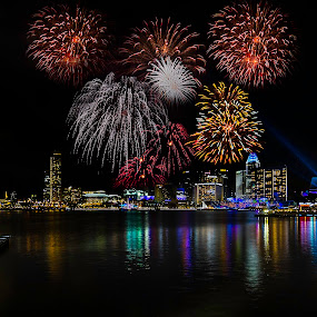 by Senthil Damodaran - Public Holidays Other ( ndp, fireworks, celebration, street scene, night, lights )