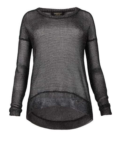 Photo: Gloss Tailcoat Jumper>>  UK> http://bit.ly/MfuQ47   US> http://bit.ly/OCwUkP  The Gloss Tailcoat Jumper is a metallic open knit jumper. Featuring a dropped armhole and scoop hem detail, this style is also available in a gunmetal colour way.