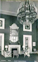 Photo: Sala de Leitura e biblioteca do Palácio Quitandinha. Foto da década de 40
