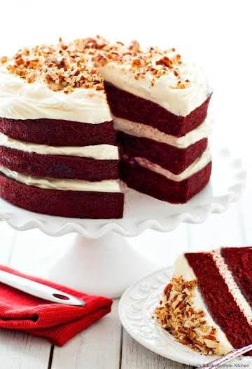 Red Velvet Layer Cake - melissassouthernstylekitchen.com