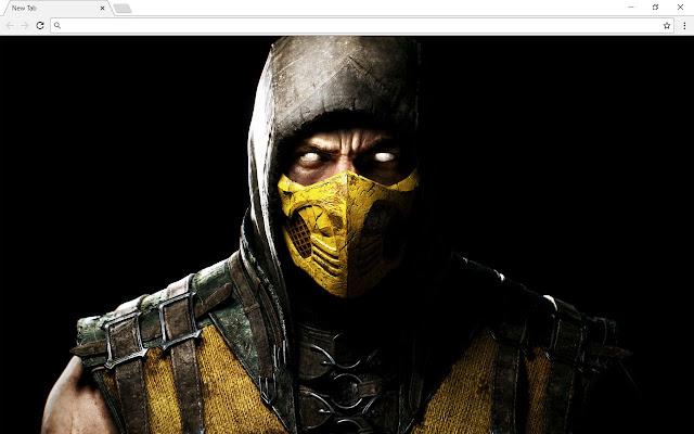 Mortal Kombat X New Tab Page