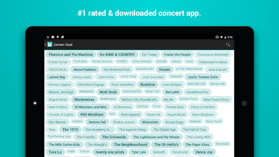 Bandsintown Concerts- screenshot thumbnail
