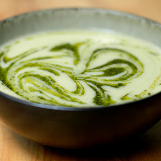 Garlicky Leek and Artichoke Soup