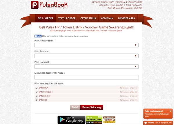 Website PulsaBook