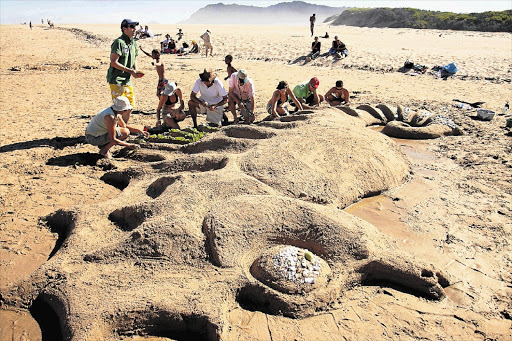 The Sand Sculpting Challenge is one of the many activities that form part of Sedgefield's Slow Festival Picture: DESMOND SCHOLTZ