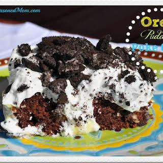 Oreo Pudding Poke Cake.