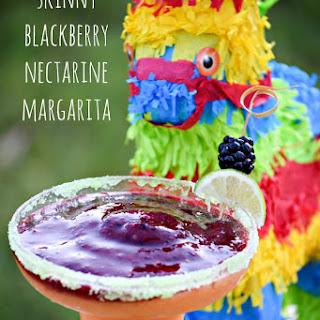 Skinny Blackberry Nectarine Margarita and Virgin Smoothie Option.
