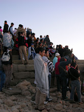 Photo: The crowd watching sunrise on Mt Nemrut
