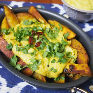 Cashew Cheese Fries with Indian Spices