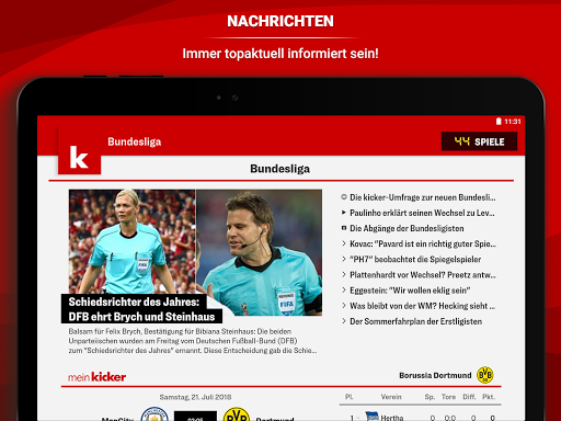 kicker Fuu00dfball News 5.7.0 screenshots 10