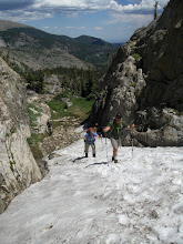 Photo: Then a snow ramp up the still buried trail.
