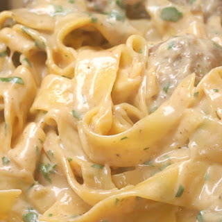 One-Pot Swedish Meatball Pasta.