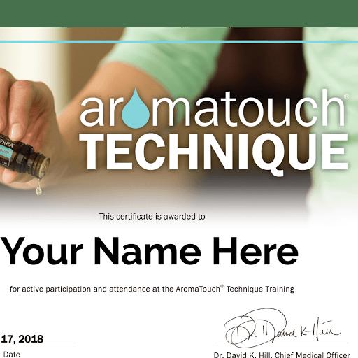certificat aromatouch technique