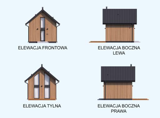 Lido 2 C dom mieszkalny, całoroczny z antresolą - Elewacje