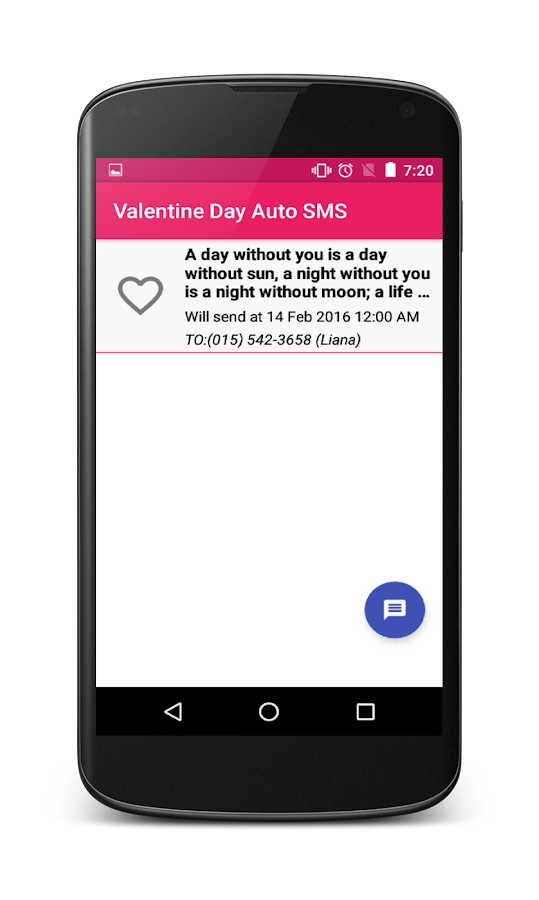 Valentine Day Auto SMS- screenshot
