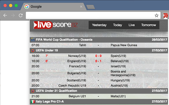 livescore bz live football scores
