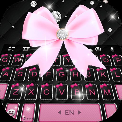 Black Pink Kitty Keyboard Theme