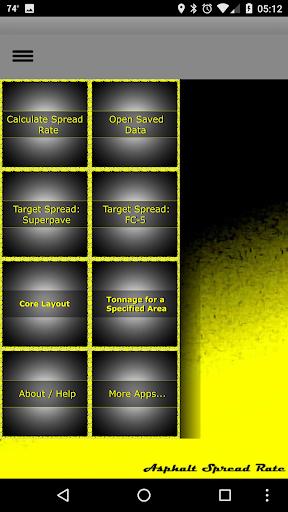Asphalt Spread Rate 1.0 screenshots 2