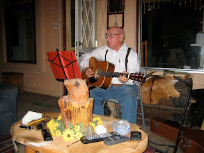 Photo: Howard singing away.