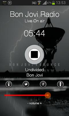 Bon Jovi Radio Online - screenshot