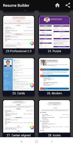 Resume builder Free CV maker templates formats app 9.3 screenshots 11