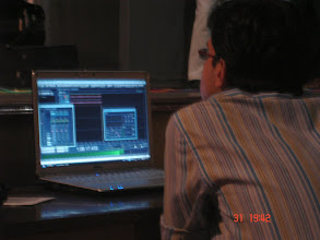 Photo: recording on laptop