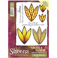 Sheena Douglass Create a Flower A6 Rubber Stamp - Palm Petals UTGÅENDE