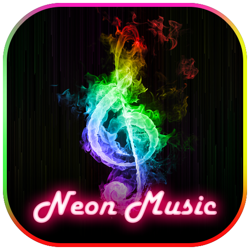 Neon Music Theme Keyboard