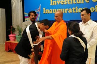 Photo: Blessings by Mahaswamiji