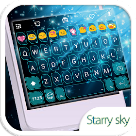 Starry Emoji Keyboard Theme