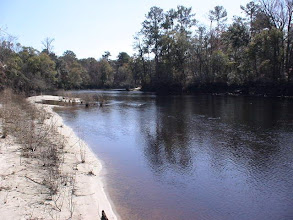Photo: Blue Landing Preserve access road to the river brings you to .this beach