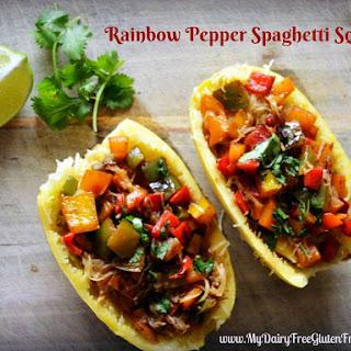 Rainbow Pepper Spaghetti Squash