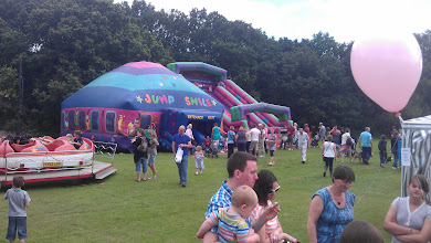 Photo: Bouncy castles and fair rided were lots of fun for the kids