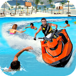 Beach Lifeguard Boat Rescue Icon