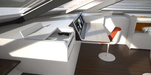 Liberty 82 interior design, nav station 02