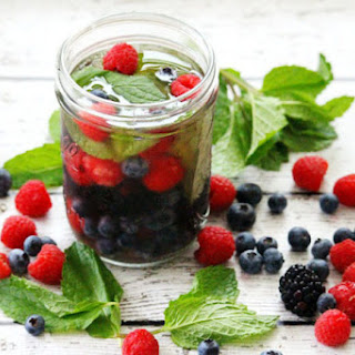 Fresh Berry and Mint Spa Water Recipe
