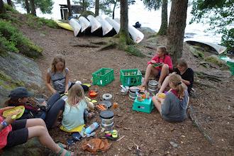 Photo: Børnene var delt op i telthold, som også var de samme køkkenhold