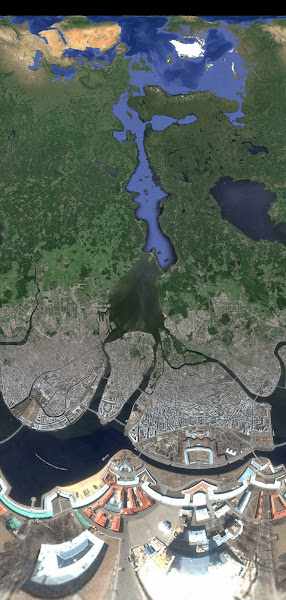 Photo: Saint-Petersbugr, satellite view from the Peter ad Paul fortress
