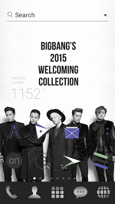 Bigbang2015 LINE Launchertheme - screenshot
