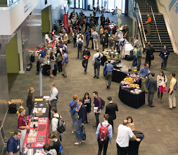 Photo: Thursday Recruiting Fair from above.