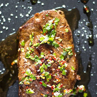 Argentinian Beef Steak with Chimichurri.