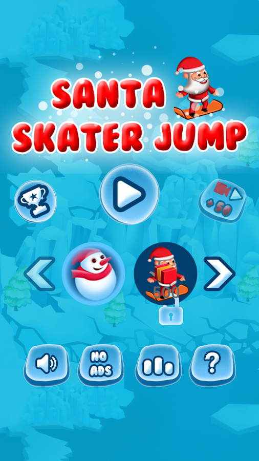 Santa Skater Jump- screenshot