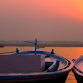 by Pranjal  Kumar Ƿrānx - Landscapes Sunsets & Sunrises ( water, waterscape, sunset, sunrise, boat, sun,  )
